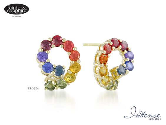 rainbow sapphire earrings