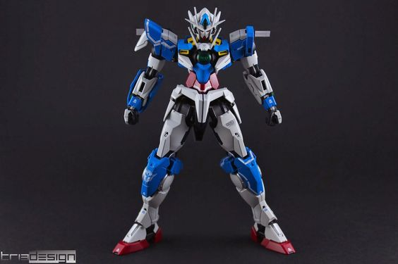 MG 1/100 00 Qan[T] Azure Saber Custom Build - Gundam Kits Collection News and Reviews