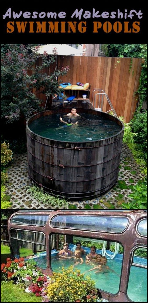 These Are Interesting Creative And Economical Way To Make Your Own Swimming Pool Diy Swimming Pool Swimming Pools Tank Swimming Pool