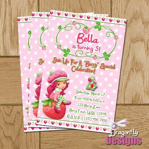 Strawberry shortcake Birthday thank you cards and Strawberry – Strawberry Shortcake Birthday Cards