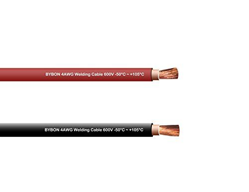 Made in the USA! RED EWCS Branded 25 FEET 4 Gauge Premium Extra Flexible Welding Cable 600 VOLT