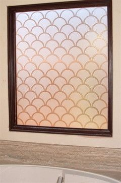 SPANISH TILES - Bathroom Windows - Frosted Glass Designs Privacy Glass - bathroom - other metro - Sans Soucie Art Glass