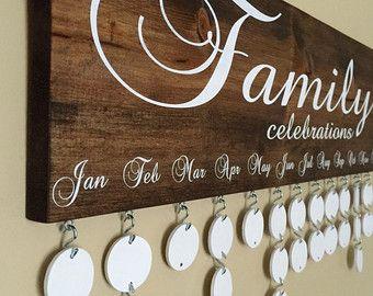 DIY Family Birthday Board . Family Birthday Sign . Special Dates . Family…
