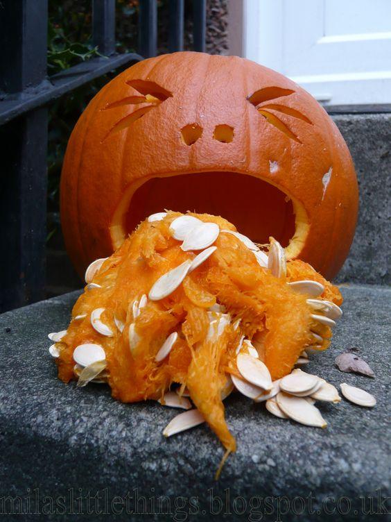 #jackolantern #pumpkin #throwinguppumpkin #pukingpumpkin #halloween