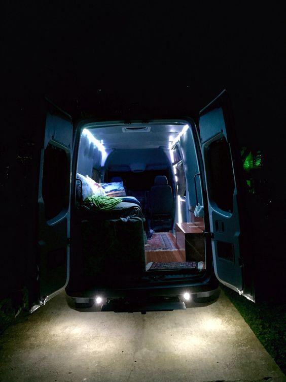 Van lighting led strips for the interior and under body - Mercedes sprinter interior light ...