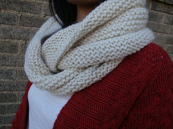 Ravelry: Garter Stitch Eternity Scarf pattern by Andrea Sanchez