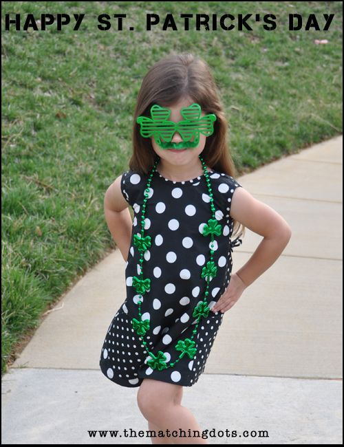 #Happy #Saint #Patrick's #Day! The Matching Dots / 2 KIDS FED FOR EVERY ITEM SOLD #dots #designer #dresses #madeinusa