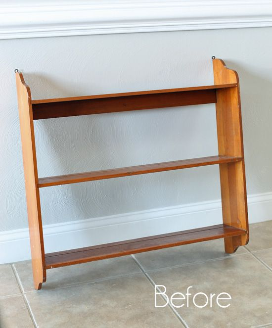 Thrift Shelf Makeover And A New