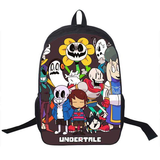 Undertale Sans Backpack Boys Girls School Bags YBookbag Shoulder Backpacks: