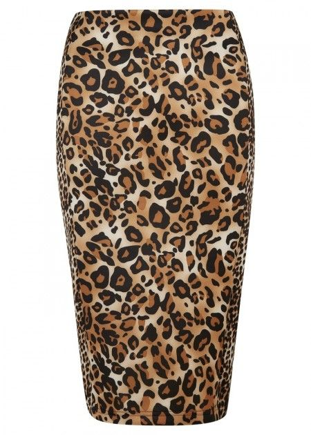 Animal Print Scuba Pencil Skirt | Fans Share