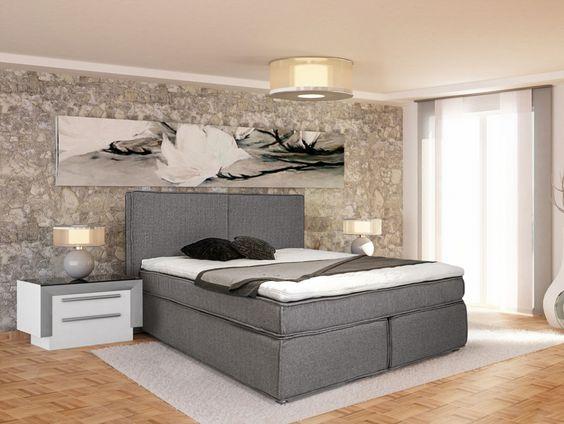 ZEUS #Boxspringbett 140 x 200 cm Härtegrad 2 105 cm - schlafzimmer dänisches bettenlager