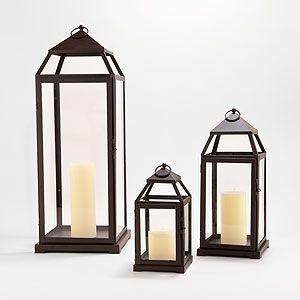 Timber Cove Lanterns | World Market (centerpiece?)