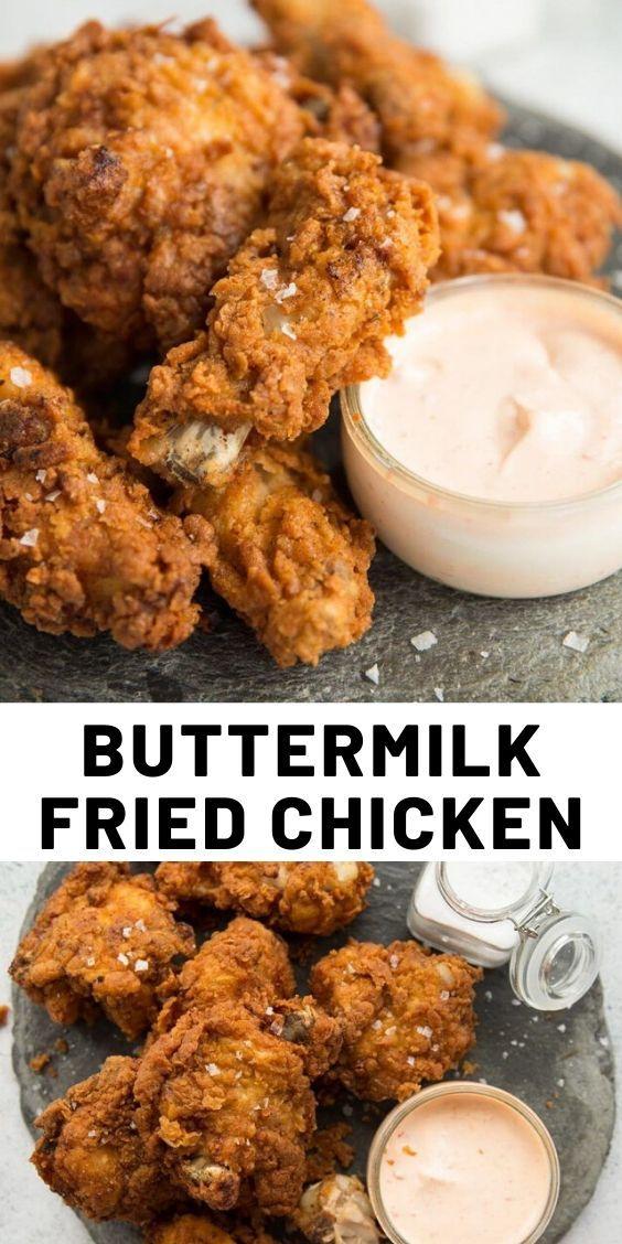 Buttermilk Fried Chicken In 2020 Easy Chicken Recipes Fried Chicken Recipes Delish Recipes