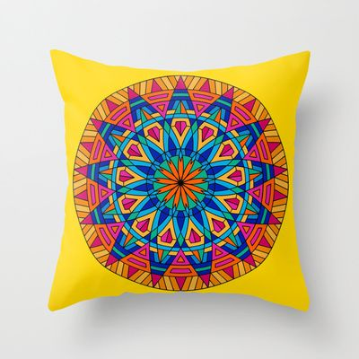 Color Chakra Throw Pillow by Pooja Jeshang - $20.00