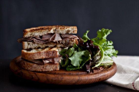 Roast Beef Sandwich with balsamic vinegar
