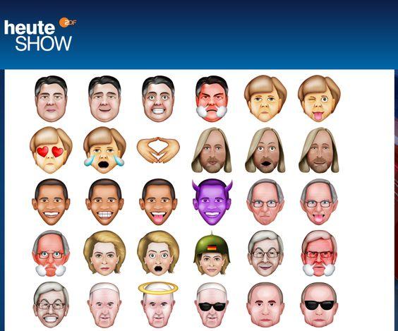 #Politicons zum #Download lol ;-D https://www.heute-show.de/ZDF/artikel/133240/politicons.php #Merkel+#Pope/#Papst+#Gabriel+#Putin+#Juncker+#Obama etc.:
