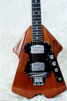 Vintage 1976 Бърнс Флайт Electric Guitar: