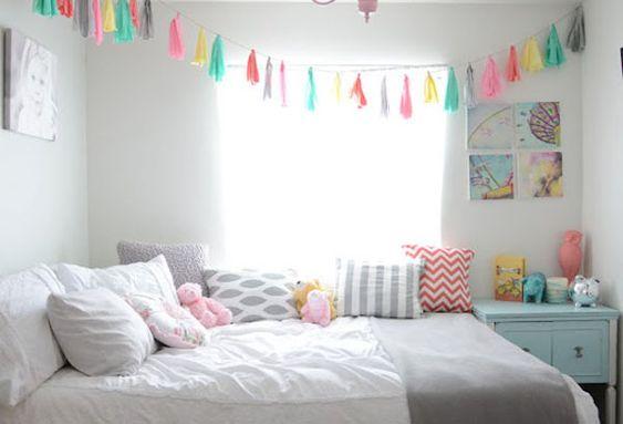 7 dormitorios infantiles decorados con guirnaldas