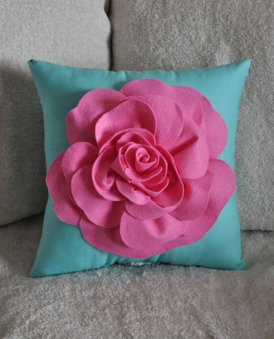 Pillows, Turquoise and Pink on Pinterest