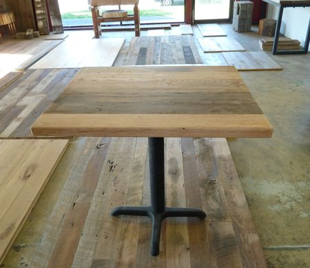 Reclaimed wood table tops dining tables restaurant for Reclaimed wood flooring san francisco