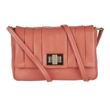 Coral Anya Hindmarch Crossbody. @Erin Di Stasi this makes me think of you!