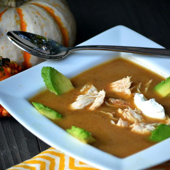 Mexican Acorn Squash Soup - creamy without using any cream - what could be better?