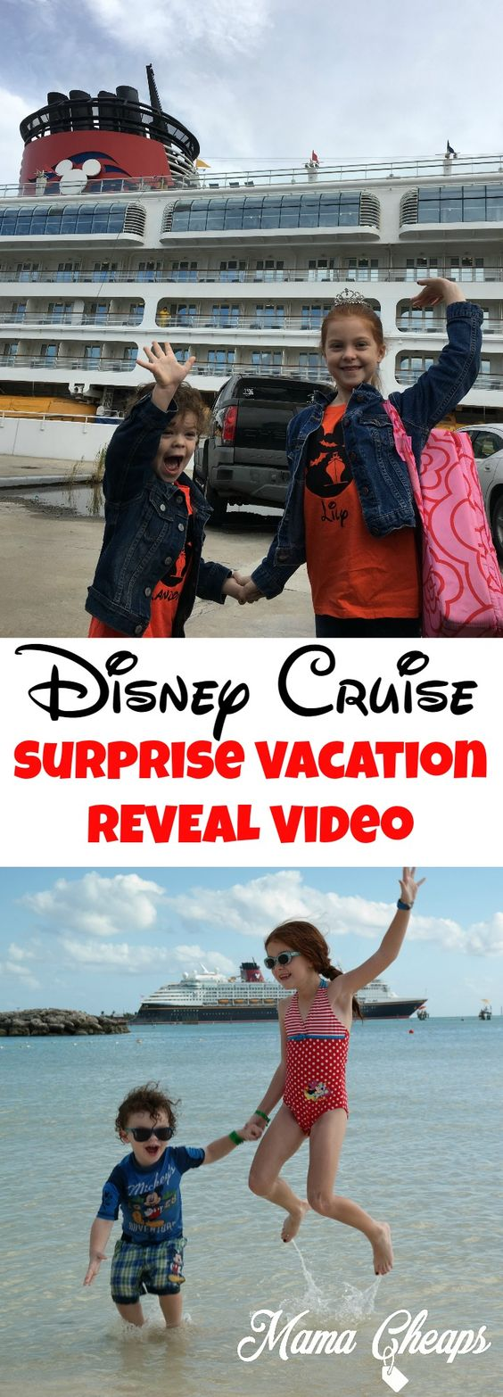 Disney Cruise Surprise Vacation Reveal Video @MamaCheaps  http://bit.ly/2iBMvrx