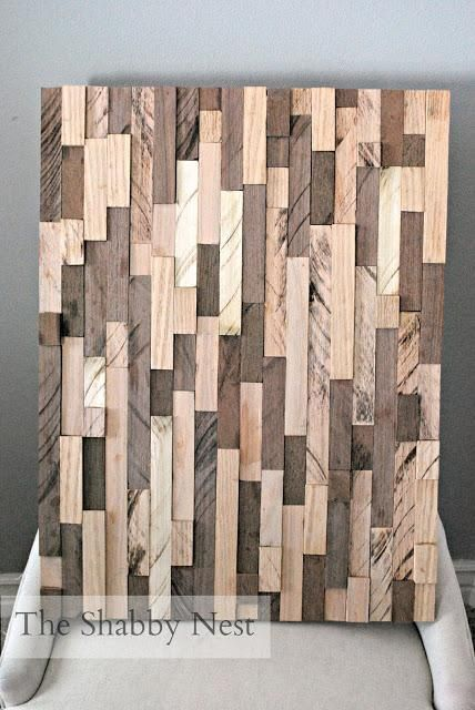 DIY Home Decor Wall Art What to do with a pile of scrap wood? Make a Wood Wall Art!