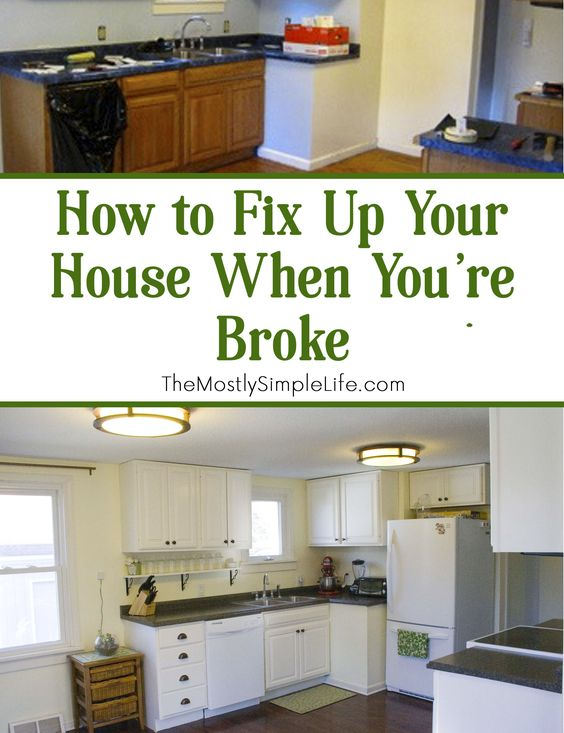When we bought our house, it needed a ton of work. We had to make a plan to fix up your house on a super tight budget. Here's what worked: