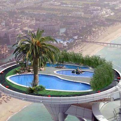 Helicopter landing pad burj al arab dubai uae travel - Swimming pool construction companies in uae ...