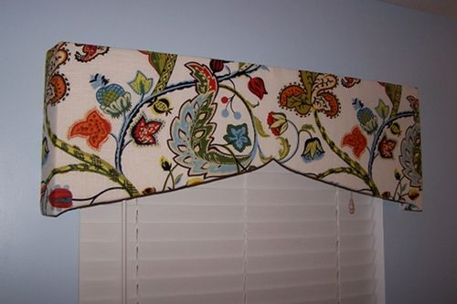 How To Make A Window Valance Uses Foam Core Instead Of
