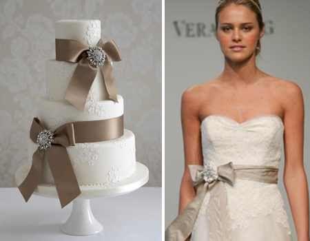 Vera Wang dress+cake