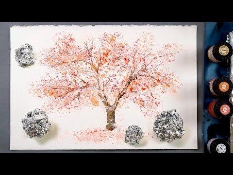 Technique De Peinture De Papier D Aluminium De Cerisier Pour Les