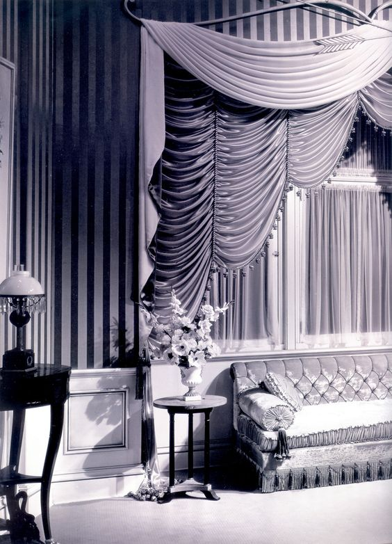 Regency Redux. This set design of the 1930's shows how Hollywood Regency was the style that was made popular by the great black and white movies of this time: