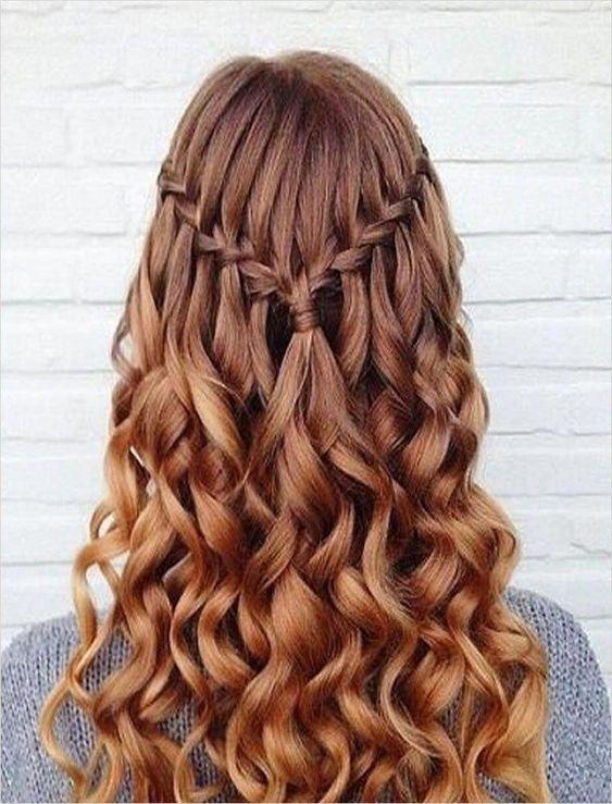 44 Beautiful Waterfall Braid Hairstyles for Winter Ball 52 100 Chic Waterfall Braid Hairstyles – How to Step by Step & Videos – Page 3 – Hairstyles 2 #beautyhairstyles #waterfallBraided #bigboxbraidsstyles