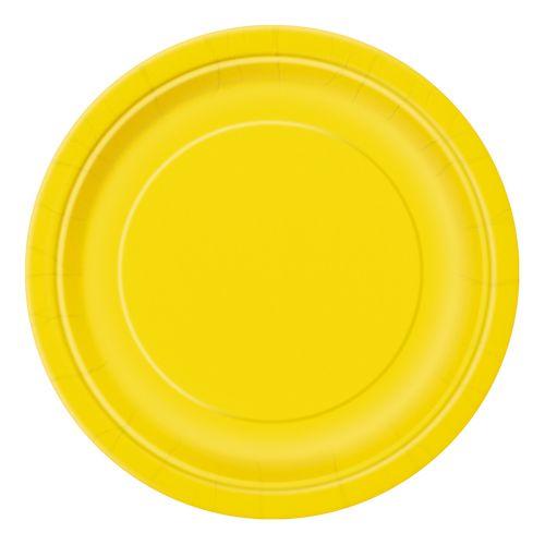 platos desechables en colores lisos de