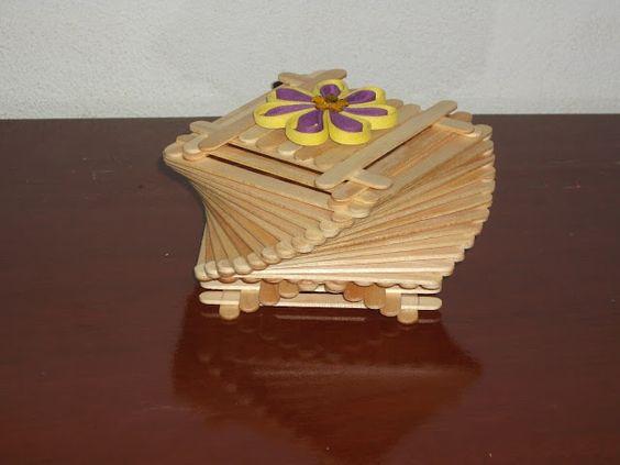 PALITOS DE SORVETE: Caixa Espiral
