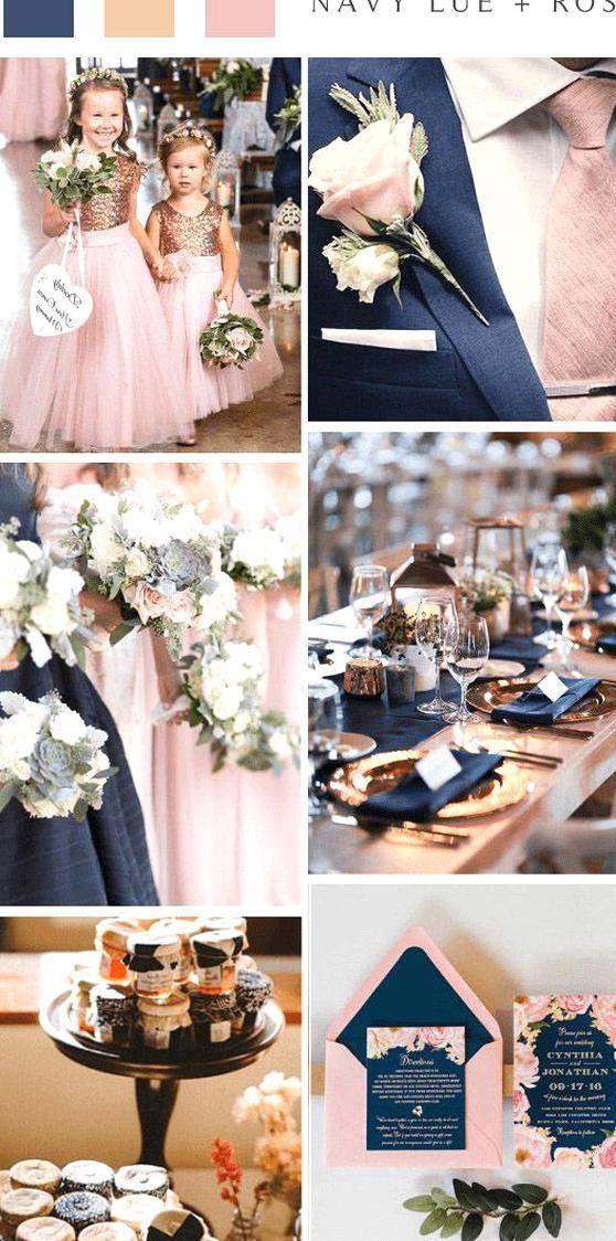 Vintage Navy Blue And Rose Gold Wedding Color Ideas In 2020 Gold Wedding Colors Wedding Colors Pink Wedding Colors