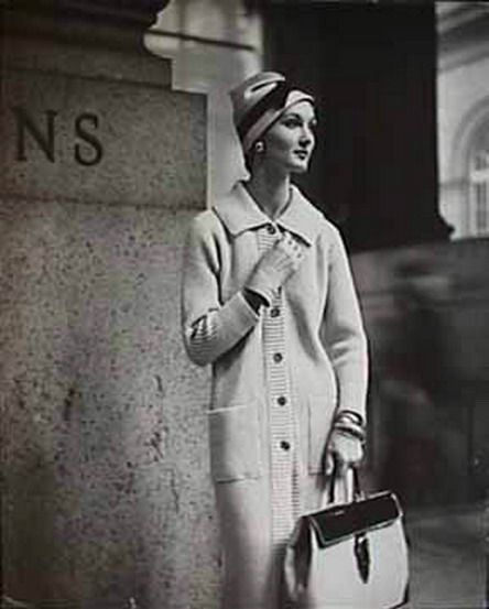 Evelyn Tripp at Penn Station, 50s Photo by Frances Pellegrini