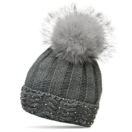 Hat Ladies White Strass