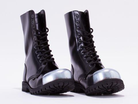 Underground Commando Ext Cap in Black Box Leather at Solestruck.com