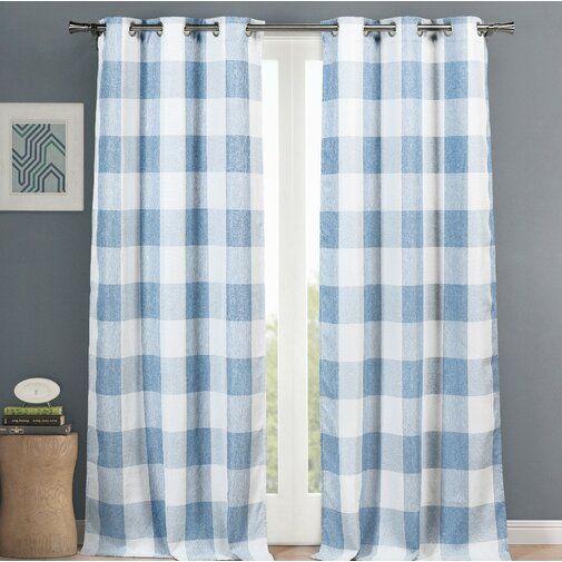 Rosenblum Plaid Blackout Thermal Grommet Curtain Panels Grommet