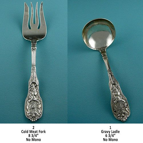 Sterling flatware sets - Gorham MYTHOLOGIQUE 123 piece sterling flatware set - Leonce Antiques