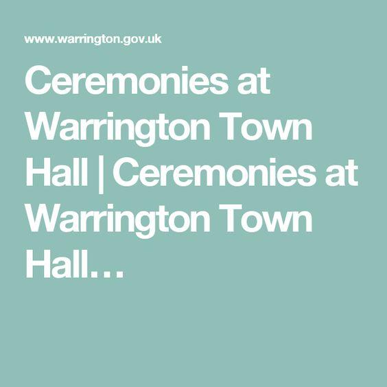 Ceremonies at Warrington Town Hall | Ceremonies at Warrington Town Hall…