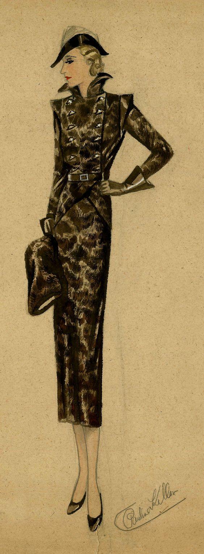 #Fashion illustration 1930's suit #womenswear from Grafton Academy Dublin
