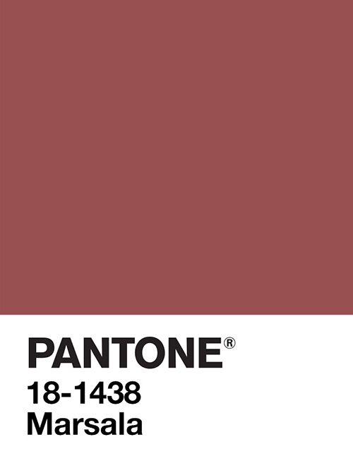 El color de moda: #Pantone #Marsala