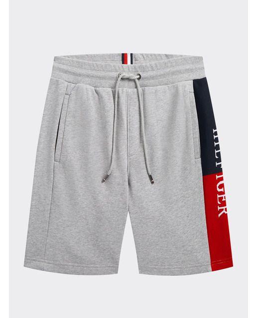 Tommy Hilfiger Pantalon Corto De Deporte De Hombre Gris Loungewear Shorts Designer Mens Shorts Tommy Hilfiger Shop