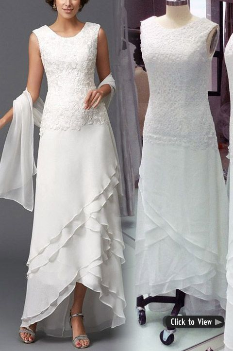 Wedding Dresses For Older Brides Over 40 50 60 70 Short Wedding Gowns Ankle Length Wedding Dress Wedding Dresses For Older Women
