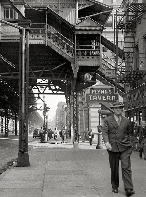 """charismatic33: """" Third Avenue Elevated at 18th Street, New York City, 1942 """""""
