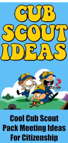 Cub Scout Ideas Pack Meeting November Citizenship